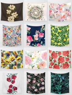 Society6 Floral Tapestries - Society6 is home to hundreds of thousands of artists from around the globe, uploading and selling their original works as 30+ premium consumer goods from Art Prints to Throw Blankets. They create, we produce and fulfill, and every purchase pays an artist.