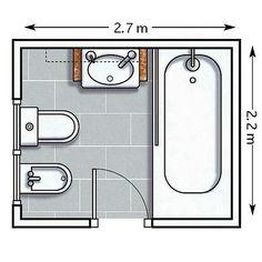 Baño 2.70x2.20 mts.