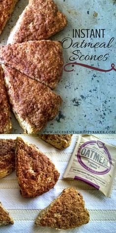 Tender, moist, and flaky scones made easy and customizeable with instant oatmeal packets.  My favorite scone recipe.