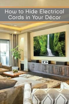 Creative Ways To Hide Electrical Cords And Devises In Your Home Décor