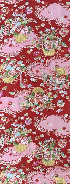 6623: 1930s-50s Japanese Silk Kimono Fabric, 54in.(Arai Hari) #instaquilt #bulkkimono #instasew #japanesefabric