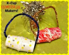 I have another project for those used k-cups that you are throwing away! Make some K-Cup Noise Makers for New Year's Eve!