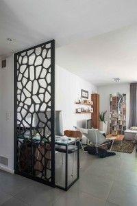 h ngende raumteiler paravent holzlatten design modern. Black Bedroom Furniture Sets. Home Design Ideas