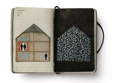 AVSM:#FindYourWhimsy recycled, reclaimed moleskine #Palimpsest (cuadernistas: Pep Carrió)