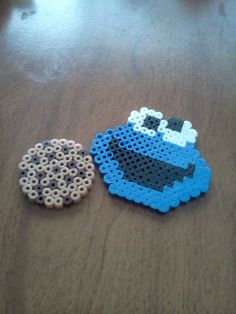 Cookie Monster and Chocolate Chip Cookie (perler beads) by lauren_goes_rawrz - Kandi Photos on Kandi Patterns