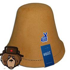 RussianBear Red Rabbit Fluff Hat for Sauna Banya Bath House Head Protection
