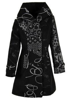Laeticia Dreams Damen Luxus Winter Mantel Patchwork Trenchcoat S M L XL 2XL 3XL
