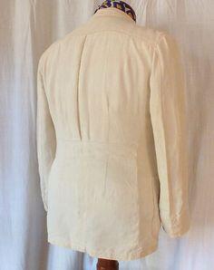 Vintage 1930s Linen Belted Back Double Breasted Summer Suit | eBay