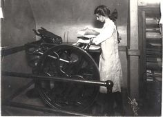 The lady and the letterpress. :)