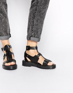 ASOS FAYDELL Leather Gladiator Sandals