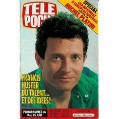 Francis Huster : du talent... et des idées !, dans Télé Poche (n°956) du 05/06/1984 [couverture et article mis en vente par Presse-Mémoire] Francis Huster, 1984, Michel, Interview, Baseball Cards, Tv, Nostalgia, Television Set