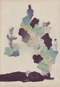 """""""Sweet Dreams"""" Collage - Illustrator Eleanor Wood"""