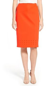 Vince Camuto Laser Cut Scuba Knit Pencil Skirt available at #Nordstrom