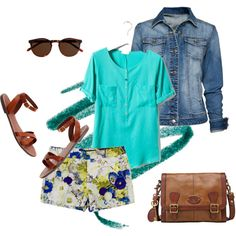 Floral shorts, created by sreagle on Polyvore
