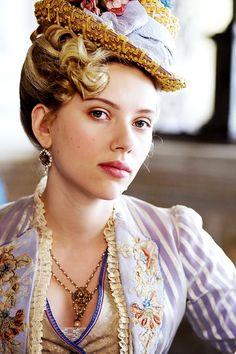 "Scarlett Johansson in ""The Prestige"" Directed by Christopher Nolan Scarlett Johansson, Period Costumes, Movie Costumes, New York City, The Prestige, Costume Design, Beautiful People, American Actress, Celebs"