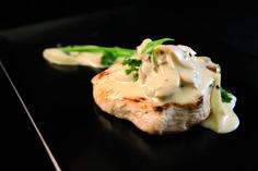 Delicia de pollo  con salsa dijon y  champiñones. Barra-Tapería La Fonda. #Elche #visitelche #destapateelche #gastronomia #ocio #restaurantes #concurso