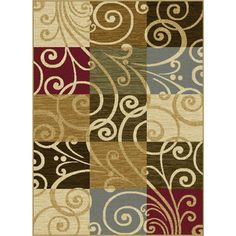 Lagoon Multi Transitional Area Rug | Overstock™ Shopping - Great Deals on 7x9 - 10x14 Rugs