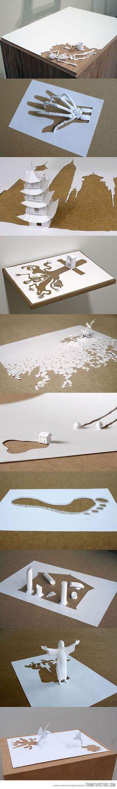Amazing paper art by Peter Callesen…  __________ Reptiliam Visual te invita a conocer nuestro trabajo en: www.reptiliamvisual.com.co