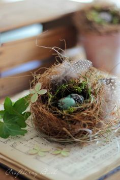 Craftberry Bush: Making a Realistic Bird's Nest #tutorial #easter #spring