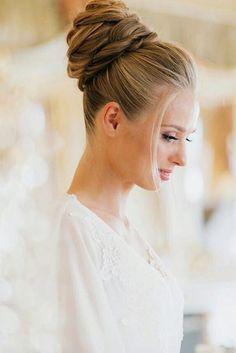 Trendy Swept-Back Wedding Hairstyles ❤ See more: http://www.weddingforward.com/swept-back-wedding-hairstyles/ #weddings