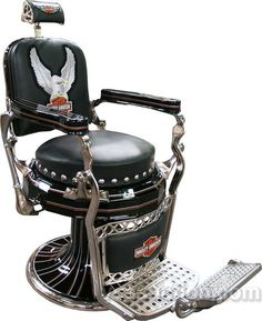 Paidar Barber Chair Restored In Harley Davidson Motorcycle Style