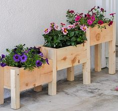 $10 DIY Tiered Planter Box Plans and Video Tutorial