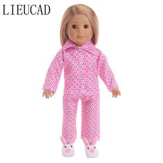 Dolls & Stuffed Toys Punctual Doll Clothes Fits 43cm Toy New Born Doll And American Doll Printed Baby Dress Siamese Sportswear