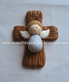 MANITAS PROLIJAS: 87. Magneto de Cruces con angelito