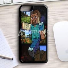 Minecraft Steve Typograpghy iPhone 7 Case | armeyla.com