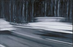 """Gerhard Richter, in Dresden, """"Two Fiats"""" Oil on canvas Action Painting, Painting & Drawing, Gerhard Richter Painting, Black And White Painting, Museum Of Modern Art, Pictures To Draw, Dresden, Art And Architecture, Art Blog"""