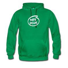 T-Shirts, Langarm-Shirts, Kapuzenpullover und andere Produkte mit dem 'Nerd inside' Design