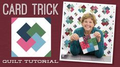 The Card Trick Quilt Pattern by Missouri Star - Missouri Star Quilt Co. - Missouri Star Quilt Co. - Finished size: 82 x 93 />Quilt pattern for strips. From Missouri Star Quilt Company Jenny Doan Tutorials, Msqc Tutorials, Quilting Tutorials, Quilting Projects, Jellyroll Quilts, Easy Quilts, Vintage Star, Missouri Star Quilt Tutorials, Missouri Star Quilt Pattern