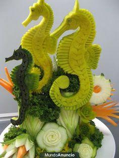 tallados de frutas y verduras: marzo 2010