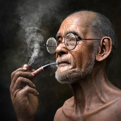 Made with Autodesk Arnold modeling and animation software - Old Man Smoking - Film & VFX - Character, Rendering, Modeling - Autodesk AREA Gallery - 1 Black And White Photography Portraits, Smoke Photography, Black And White Portraits, Portrait Photography, Photography Outfits, Photography Composition, Photography Studios, Photography Backdrops, Photography Tips