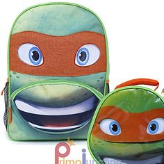 Limited Edition Ninja Turtles Michelangelo 16 Large Backpack with Lunch Bag *** Check out this great product. Best Kids Backpacks, Michelangelo, Ninja Turtles, Travel Style, Coin Purse, Lunch, Vacation Ideas, Image Link, Bags