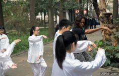 Michelle Obama se despide de China