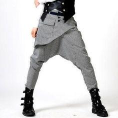Picture of deepstyle Front-Panel Harem Pants 1022439543 (deepstyle, Mens Pants, Korea) Sarouel Pants, Harem Pants Outfit, Harem Trousers, Fashion Pants, Look Fashion, Korean Fashion, Fashion Outfits, Womens Fashion, Fashion Design