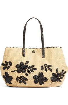 cfd317e49c Tory Burch Kerrington Straw Tote available at  Nordstrom Stylish Handbags