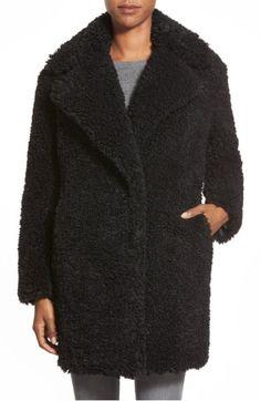 484f7a4fd2 Main Image - kensie  Teddy Bear  Notch Collar Faux Fur Coat (Online Only