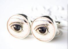 Human eye cufflinks by White Truffle style 002 by whitetruffle