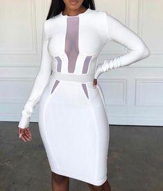 80212c57efd9 7 Best white bandage dress images | Neckline, Sexy dresses, White dress