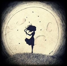 #illustration #drawing #illustrazioni #disegni #dark #moon