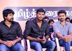 SivaKarthikeyan , Vishal, Vijay at TFSC Protest against sterlite and carvery issue