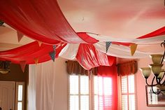 Love this!! Make a circus tent indoors!