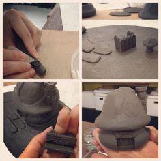 The Smurfs clay house - Kassie