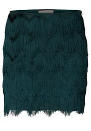Vero Moda Party Fringe Skirt, Mediterranean Green