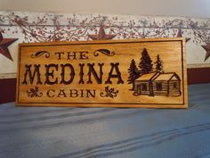 Personalized Wooden Carved Last Name Cabin Sign by TKWoodcrafts, $39.95
