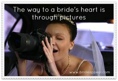 Make brides happy by sharing pictures online ;) http://brideappeal.com/_blog/blog/post/the-bridal-marketing-trend-to-jump-on-before-it-goes-from-novel-to-norm/