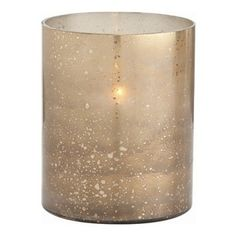 Arteriors - Hagar Hurricane, Short -  Though simple in design, its gold and brown reactive glaze makes it stand out