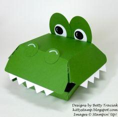 Hamburger Box Crittters-  Alligator